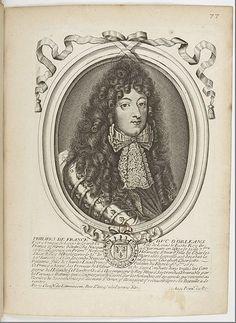 Philippe de France, duc d'Orleans, Monsieur (1640-1701), 1690 by Nicolas de Larmessin (1632-1694)