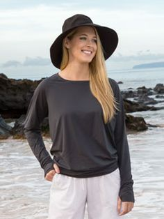 Women's Ruched Pullover SPF 100