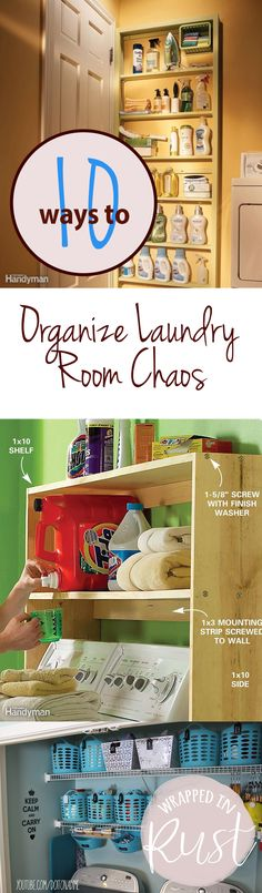 10 Ways to Organize Laundry Room Chaos| Organize Laundry Rooms, How to Organize Laundry Rooms, Laundry Room Organization, Laundry Room Organization Hacks, Organize Your Laundry Room, Popular Pin #OrganizeYourLaundryRoom #Organize #LaundryRoomOrganization