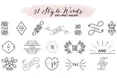 Style Words Design EPS & PNG by Pixejoo on Creative Market