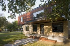 Articles about modern renovation austin. Dwell is a platform for anyone to write about design and architecture. Second Floor Addition, Second Story Addition, Mansard Roof, Brick Ranch, Ranch Remodel, Old Bricks, Building Exterior, Park Homes, House Extensions