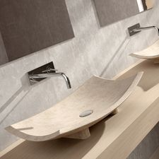 MaestroBath Bora Bora Rectangular Vessel Bathroom Sink Sink Finish: B Bathroom Vanities For Sale, Contemporary Bathroom Sinks, Modern Sink, Contemporary Baths, Bathrooms, Stone Bathroom Sink, Wall Mounted Bathroom Sinks, Stone Sink, Bora Bora