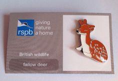 RSPB-British Wildlife FALLOW DEER Pin Badge.  | eBay