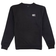 obey NEW TIMES CREWNECK black
