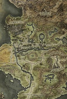 Fantasy Map Making, Fantasy City Map, Fantasy World Map, World Map Art, Map Of Azeroth, World Of Warcraft Map, Word Map, Witcher Art, Map Maker