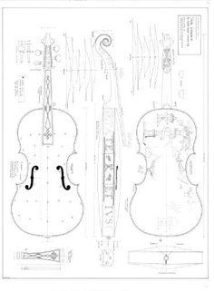 The parts of a violin. Violin diagram. Violin measurements