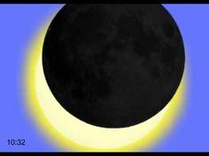 Animatie van de gedeeltelijke zonsverduistering op 20 maart 2015 (c) NOVA Science, Heaven On Earth, Natural Wonders, School, Youtube, Nature, Outer Space, Geography, Planets