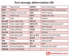 Popular text acronyms