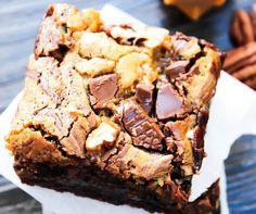 Turtle Cheesecake Fudge Brownies