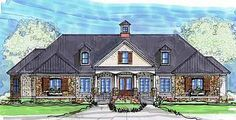 Plan 62134V: Ranch Home with Pool House