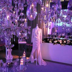 Lamparas Maison Lancome Madrid ,la vie est belle. www.showlight.es alquiler lamparas de cristal