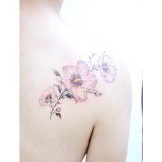 :Rose of sharon Color ver. . #tattooistbanul #tattoo #tattooing #roseofsharon…