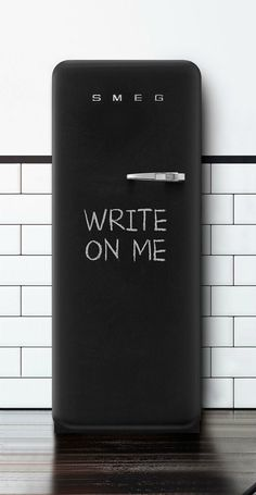 Loving this new #blackboard #fridge from +SMEG
