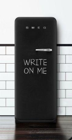Loving this new #blackboard #fridge from +SMEG
