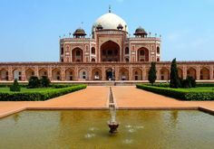 Humayun's Tomb -- It was the first garden-tomb on the Indian subcontinent, and is located in Nizamuddin East, Delhi, India, close to the Dina-panah citadel also known as Purana Qila (Old Fort),...