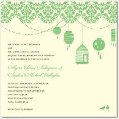 Sweet Lanterns - White - Vintage Wedding Invitations, White, Shop By Color, Wedding Invitations