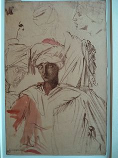 CHASSERIAU Théodore,1846 - Arabes - drawing.