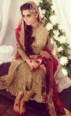 Punjabi Fashion, Indian Bridal Fashion, Bollywood Fashion, Bridal Outfits, Bridal Dresses, Mehndi, Henna, Pretty Dresses, Beautiful Dresses