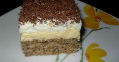 Vaníliás fagyi szelet Egy újabb habos-krémes sütireceptet hozok, ami egyáltalán nem olyan bonyolult, ám annál finomabb. A diós piskóta ... Sweet Desserts, Tiramisu, Health, Ethnic Recipes, Facebook, Dios, Recipes, Sheet Cakes, Bakken