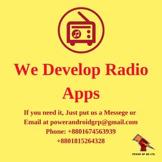 Radio Apps Development Email at powerandroidgrp Contact on – Make Mobile Applications Software Apps, Business Software, App Development, Ios, Android Developer, Mobile Applications, Coding, Programming, Itunes