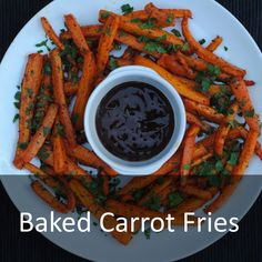 Potato fries are a little bit of an obsession of mine and I could easily eat 4 potatoes worth in one sitting - no lie. They are such a simple side dish to make and usually a winner on every dinner table. Try these baked carrot fries that are a little healthy twist on regular fries. Under 120 calories a portion, so ideal for a snack or a side.  #carrot #fries #chips #sidedish #hungryhealthyhappy