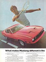 Ford Mustang Red 1973 Ad Picture
