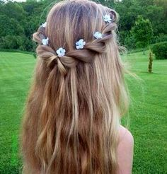15 lovely hairstyles for lengthy hair - Hair World Flower Girl Hairstyles, Pretty Hairstyles, Wedding Hairstyles, Braided Hairstyles, Fashion Hairstyles, Princess Hairstyles, Hairstyles Haircuts, Hairstyle Ideas, Beauty Tutorials