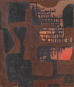 Alberto Burri, Colatura, 1950 Tornabuoni Art - La Dolce Vita Courtesy Tornabuoni Art