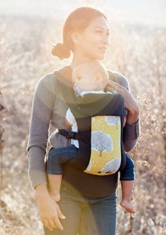 I am loving Yellow prints right now! Austin Beco Gemini-Beco Gemini Baby Carrier sling Austin