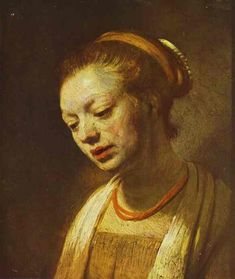 Portrait of a Young Girl - Rembrandt