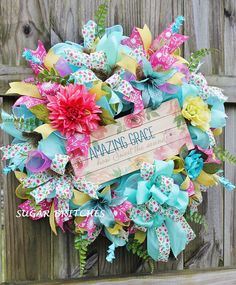Amazing Grace Wreath Spring Wreath Summer by SugarBritches65