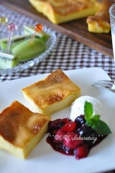 ひんやり塩メイプル味の北欧風パンケーキ