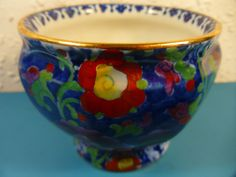 Antique Booths Sugar Bowl.Silicon China England.Hand Painted Floral Design. 3.5