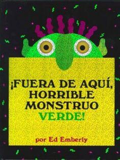 ¡Fuera de aquí, horrible monstruo verde! for labeling facial parts: eyes, nose, ears, mouth, hair, face.