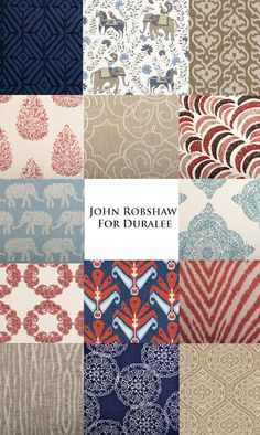 John Robshaw for Duralee - lower right hand fabric for comfy chairs?