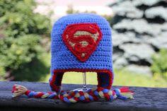 Handmade Superhero Crochet Hat by HugsKissesStitches on Etsy