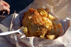 """This famous 100 year old takeout fish & chips shop is a Dublin institution near St. The chips should be ordered with """"crispy bits"""" and are every bit as good as the Fresh Fried Cod. Restaurants In Dublin, Ireland With Kids, Best Fish And Chips, Fish And Chip Shop, Budget, Irish Recipes, Places To Eat, The Fresh, Great Recipes"""