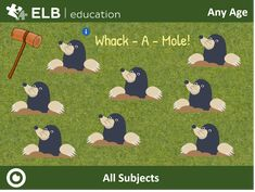 Use this fun game template to make your lesson more interactive. Open on your touch display and students can tap on a mole to take them to a question or activity of your choosing! Access the lesson by clicking on this link or copying it into your borwser. Don't have Presenter? Follow the link to create a free account! #ELBacademy, #ELBeducation, #Prowise, #Prowise Presenter, #Edtech, #Aussieteachers, #digitalclassroom