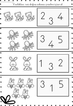 Kindergarten Math Worksheets, Math Literacy, Preschool Learning Activities, Preschool Printables, Preschool Activities, School Folders, Montessori Math, Numbers Preschool, Math For Kids