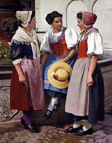 FolkCostume&Embroidery: Overview of Swiss Costume Folklore, Folk Costume, Costumes, Swiss People, German Costume, Swiss Miss, German Folk, Swiss Travel, Folk Clothing