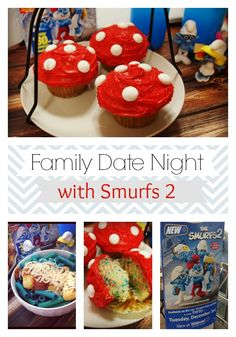 Family Date Night with Smurfs 2 - dinner and desert ideas to match the movie :)