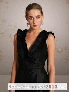 Elégante Robe Demoiselle d'Honneur Dos en V Court / Mini Longue