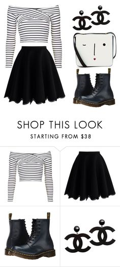 """Untitled #7"" by victoriamello11 on Polyvore featuring Topshop, Chicwish, Dr. Martens and Lulu Guinness"