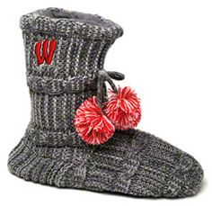 Wisconsin Badgers Women's Knit Fashion Bootie