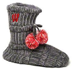 Wisconsin Badgers Women's Knit Fashion Bootie