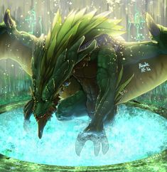 Green Dragon : Heaven Forest by Pacelic.deviantart.com on @deviantART
