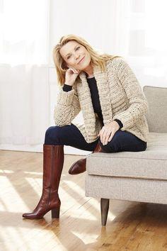 Fisher's Island Cardigan (Crochet) - Patterns - Lion Brand Yarn