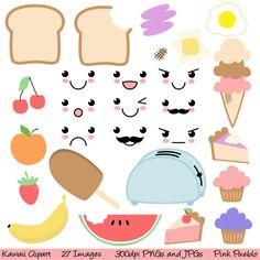Kawaii Essen Clipart ClipArt kommerziellen und von PinkPueblo