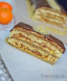 Romanian Food, Romanian Recipes, New Cake, Strudel, Something Sweet, Caramel, French Toast, Recipies, Food And Drink