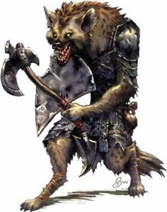 Gnoll (Dungeons and Dragons) Fantasy Weapons, Fantasy Rpg, Medieval Fantasy, Fantasy Artwork, Fantasy Races, Dungeons And Dragons, 3d Character, Character Concept, Character Portraits